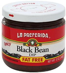 La Preferida Black Bean Dip Fat Free
