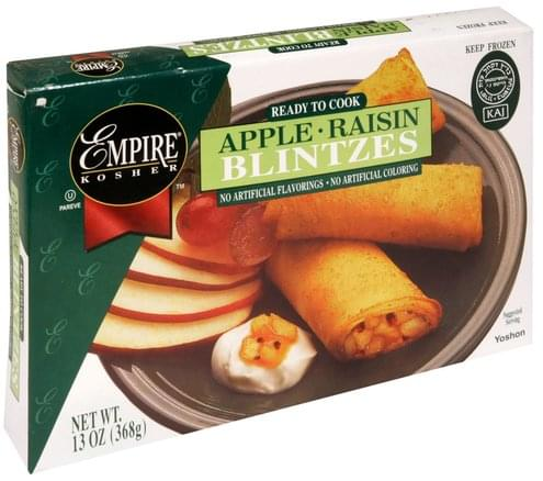 Empire Kosher Apple Raisin Blintzes - 13 oz