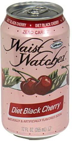 Waist Watcher Soda Diet, Black Cherry