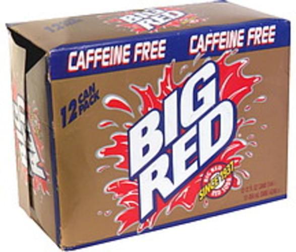 Big Red Caffeine Free Red Soda - 12 ea