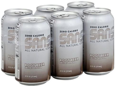 Sans Zero Calorie Root Beer - 6 ea