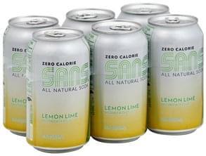 Sans Soda Lemon Lime, Zero Calorie
