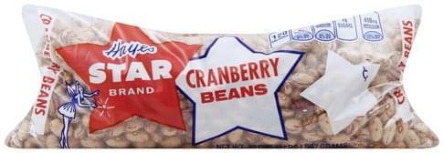 Hayes Star Cranberry Beans - 32 oz