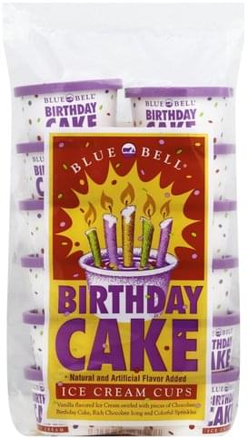Wondrous Blue Bell Birthday Cake 12 Cups Ice Cream Cups 12 Ea Nutrition Personalised Birthday Cards Veneteletsinfo
