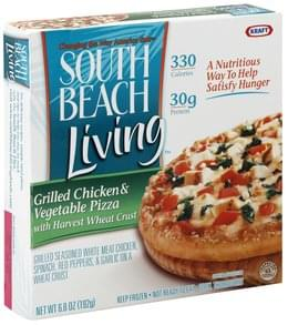 South Beach Living Pizza Grilled Chicken & Vegetable
