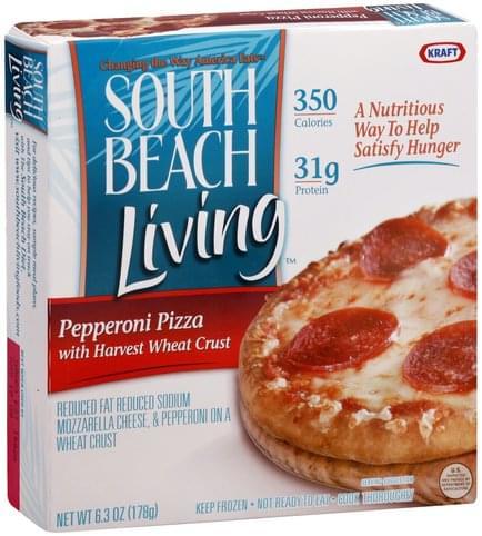 South Beach Living Harvest Wheat Crust, Pepperoni Pizza - 6.3 oz