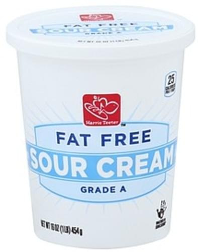 Harris Teeter Fat Free Sour Cream - 16 oz