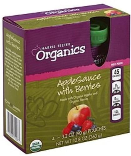Harris Teeter with Berries Apple Sauce - 4 ea