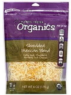 Harris Teeter Cheese Shredded, Mexican Blend
