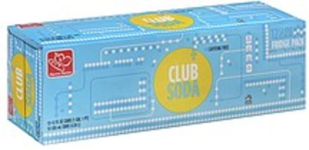 Harris Teeter Fridge Pack Club Soda - 12 ea