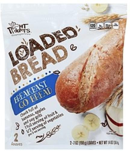 HT Traders Loaded, Breakfast Go Bread - 2 ea