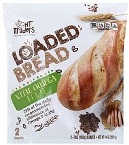 HT Traders Loaded, Vital Omega Bread - 2 ea