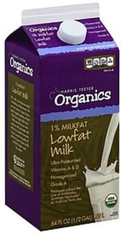Harris Teeter Milk Lowfat, 1% Milkfat
