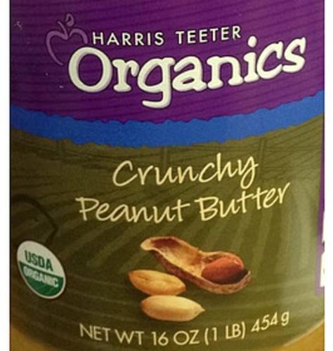 Harris Teeter Organics Crunchy Peanut Butter - 30 g