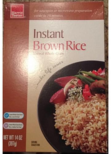 Harris Teeter Instant Brown Rice - 43 g
