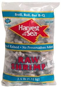 Harvest of the Sea Raw Shrimp Tail-On