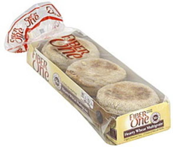 Fiber One Hearty Wheat Multigrain English Muffins - 6 ea