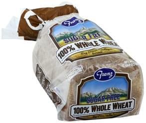 Franz Bread Sugar Free, 100% Whole Wheat