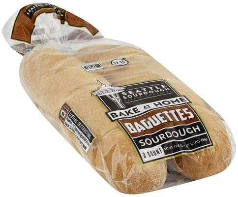Seattle Shortbread Sourdough Baguettes - 2 ea