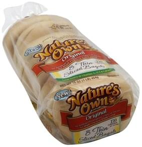 Natures Own Bagels Thin Sliced, Original