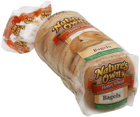 Natures Own Honey Wheat Bagels - 22 oz