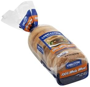 Cobblestone Bread Bagels 100% Whole Wheat