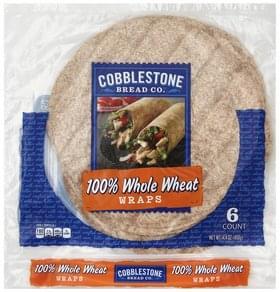 Cobblestone Bread Wraps 100% Whole Wheat