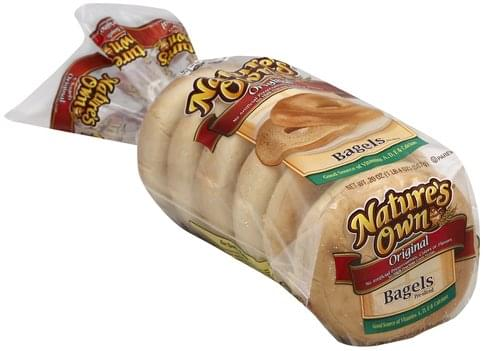 Natures Own Original, Pre-Sliced Bagels - 20 oz