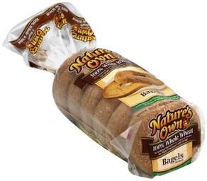 Natures Own Bagels 100% Whole Wheat, Pre-Sliced