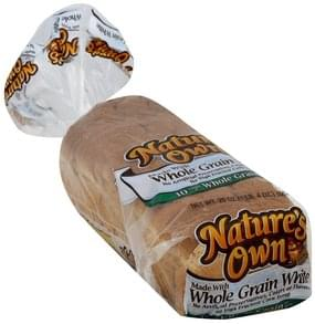 Natures Own Bread Made with Whole Grain White