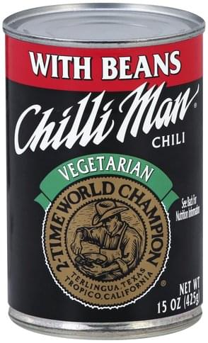 Chilli Man Vegetarian, with Beans Chili - 15 oz
