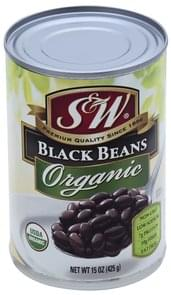 S & W Black Beans Organic