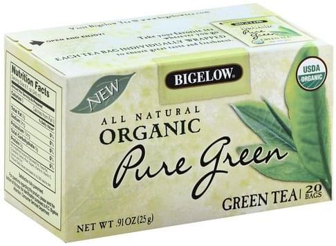 Bigelow Organic, Pure Green, Bags Green