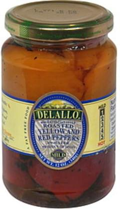 Delallo Roasted Yellow and Red Peppers In Water, Mild