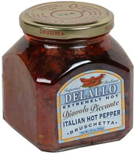 Delallo Bruschetta, Italian Hot Peppers, Extremely Hot Diavolo Piccante - 10 oz