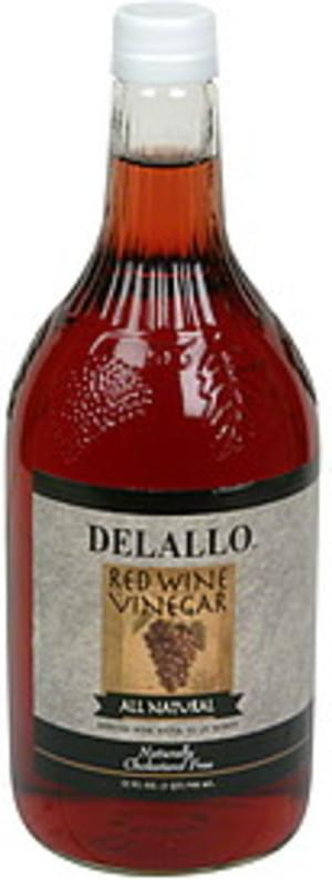 Delallo All Natural Red Wine Vinegar - 32 oz