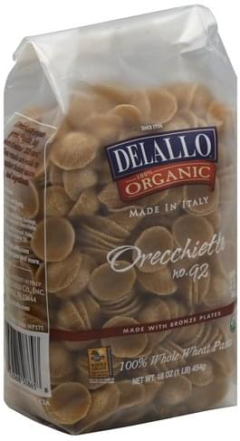 DeLallo Whole Wheat, Orecchiette No. 92 Pasta - 16 oz