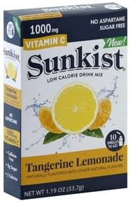 Sunkist Drink Mix Low Calorie, Tangerine Lemonade