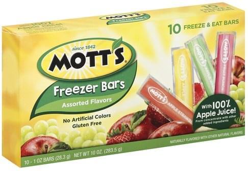 Motts Assorted Flavors Freezer Bars