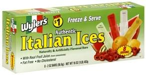 Wylers Italian Ices Assorted Flavors