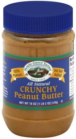 Maple Grove Farms Crunchy Peanut Butter - 18 oz