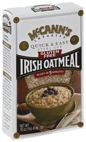 McCanns Oatmeal Irish, Steel Cut, Quick & Easy