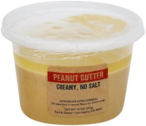 Torn & Glasser Creamy Peanut Butter - 14 oz