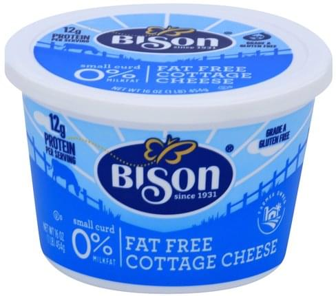 Bison Small Curd, 0% Milkfat, Fat Free Cottage Cheese - 16 oz