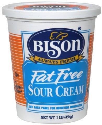 Bison Fat Free Sour Cream - 1 lb