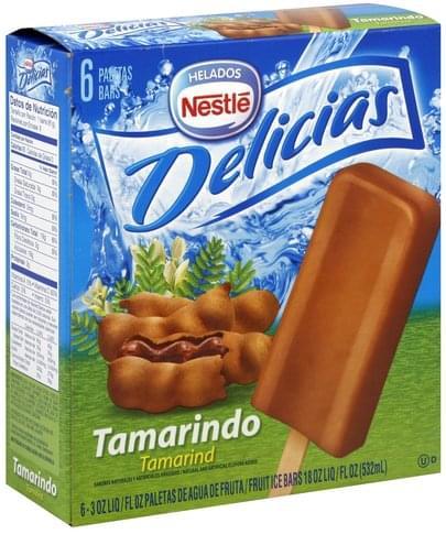 Nestle Tamarind Fruit Ice Bars - 6 ea