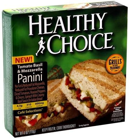 Healthy Choice Tomato Basil & Mozzarella Panini - 6 oz