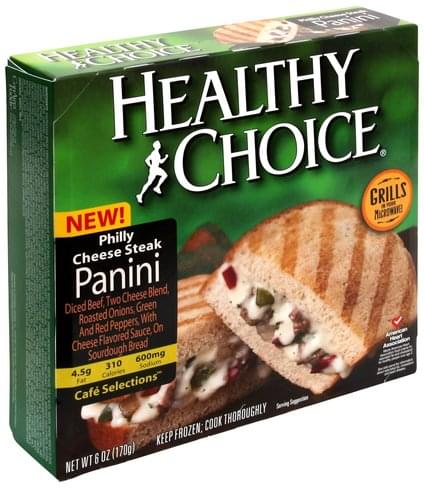 Healthy Choice Philly Cheese Steak Panini - 6 oz
