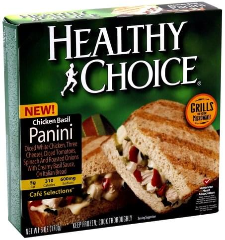 Healthy Choice Chicken Basil Panini - 6 oz