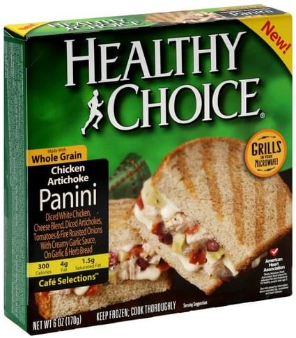 Healthy Choice Chicken Artichoke Panini - 6 oz